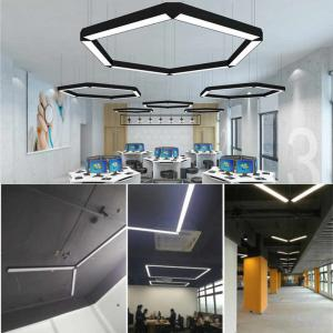 China Aluminum 15W 20W Linear Led Lighting Suspended Office LED Linear Pendant Lighting on sale