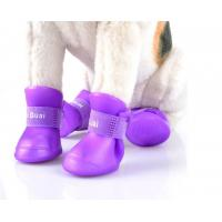 Pet supplies silicone rain boots, non-slip pet shoes, candy color fashion cute dog shoes,red,yellow,pink,black;