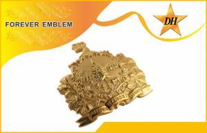 China Mini 3D Custom Pin Badge , Zinc alloy / Brass / Copper Lapel Pin Badges on sale