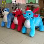 Hansel  high quality Coin operated power wheels horse carriage plush toy animal scooter in mall