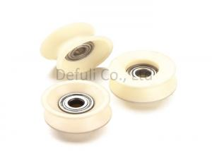 China White Cable Guide Pulley / Ceramic Guide Rollers For Textile Machines on sale