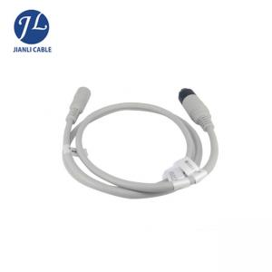 China Whit PVC Material Backup Camera Extension Cable With 6 Pin Male And Female Connector on sale