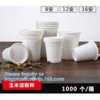 6OZ Corn Starch Biodegradable Disposable Cup,Eco-friendly Corn Starch Cup Party Tableware Biodegradable Food Container