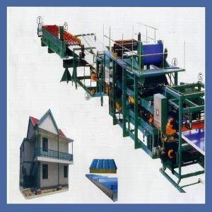 China Fully Automatic Sandwich Panel Production Line / Corrugated Cardboard Machine on sale