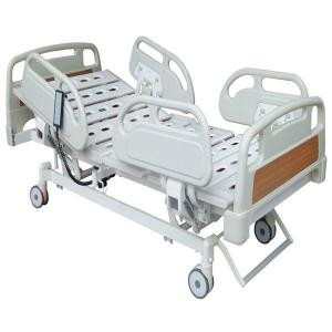 China Stainless Steel Electrically Operated Beds Adjustable Height 460-750mm PP Plastic Guardrails on sale
