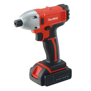 China 18 Volt Lithium Ion Brushless Impact Driver Aluminium Head Red Color With LED Working Light on sale