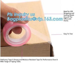 China Gift Wrapping, office sealing need, Easy to tear, Colored Waterproof Self Adhesive Scotch Tape Label on sale