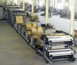 China Cement bag tuber making machine with four-colors printing for package machinery on sale