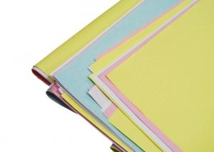 China Colored NCR Carbonless Copy Paper 3 Part Carbonless Paper Printing 5mm Twist on sale