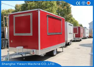 China Gas Pizza Oven Equipped Mobile Food Kitchen Trailer Sandwich Panel on sale