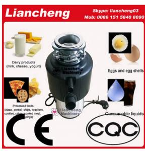 China kitchen electric appliances garbage disposer Mulcolor Stainless steel Fast locking Metal wiredrawing and polishedswitch on sale