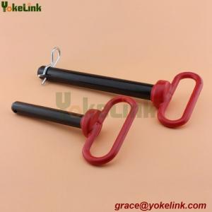 China Red vinyl coated solid handle trailer pin with hair pin Tractor Linkage Pin manufacturer on sale