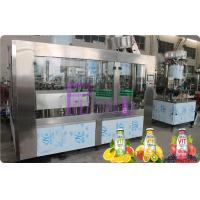 China Glass Bottle Filler Machine Automatic Juice / Tea Bottling Filling Machine 6000 - 8000BPH on sale