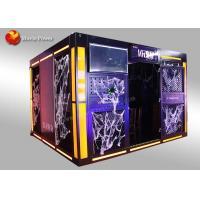 Multiplayer 9D VR Arena Haunted House Platform / Virtual Reality Simulator Game Machine