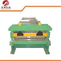 China Galvanized Barrel Corrugated Sheet Roll Forming Machine PLC Full Automatic Control on sale