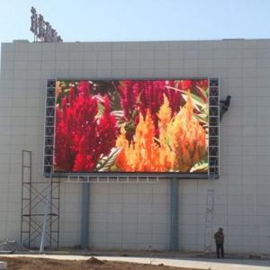 China Waterproof P10 Outdoor Led Display Signs 6000-6500 Nits Brightness Constant Drive on sale