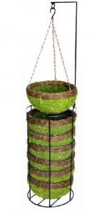 China 14`MOSS ROUND HANGING BASKET FOR GARGENING,HOME DECO.Spaniel Hanging Basket Garden on sale