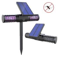 Solar Bug Zapper Light Wireless Insect & Mosquito Killer Light with 4 UV LED Bulbs Rechargeable Garden Lights