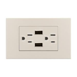 China White USB Electrical Socket Outlet , 13 Amp Wall Socket With Usb Charging Ports on sale