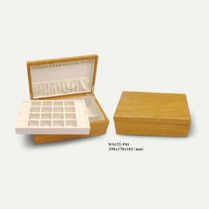 China china suede wood cosmetics box/package/showcase on sale
