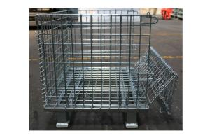 China Large Capacity Industrial Wire Baskets Wide Use Stackable Wire Mesh Bins on sale