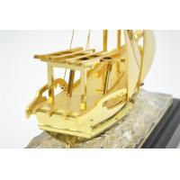 Business gift pure Golden Ship Model