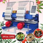 1200 spm high speed 2 head embroidery machine HO1502H 400*500mm cap t-shirt flat sequin computer embroidery machine sale