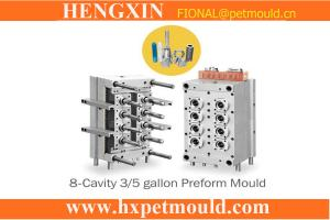 China 8 cavity 5 gallon  valve gate hot runner preform mould on sale