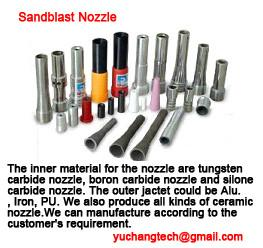 China Sandblast nozzle,boron carbide nozzle,tungsten carbide nozzle,silicone carbide nozzle on sale
