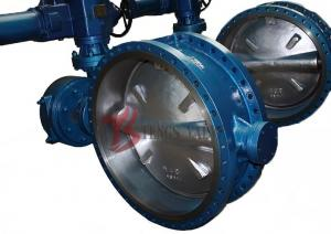 China API 609 Metal Seated Butterfly Valve , Industrial Triple Offset Butterfly Valve on sale
