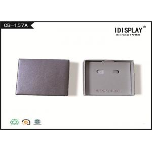 Eco - friendly Gift Packaging Boxes , Gray Jewelry Cardboard Gift Box