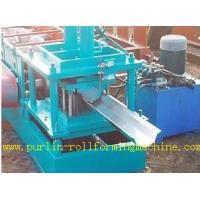 Durable Seamless Gutter Machine , Water Gutter Making Equipment Former Line