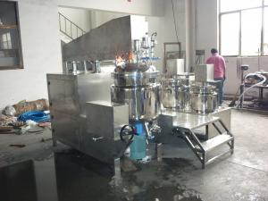 China 50 - 5000L PLC Automatic Tilting Vacuum Homogenizing Emulsifier, Emulsifying Equipment on sale