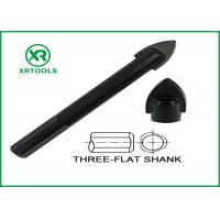 China Black Oxided Glass Cutting Drill Bit Three Flat Shank Carbon Steel Material on sale
