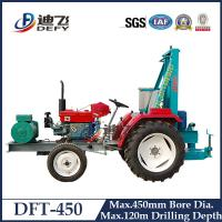Factory Price of DFT-450 Widely Used Tractor Mounted Water Well Boring Machines, 120m Borehole Drilling Rig