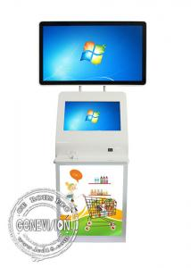 China PCAP Landscape LCD Touch Screen Digital Signage Information Kiosk , Plug Socket Touch Computer Totem on sale