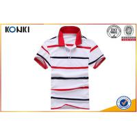 Personalised Custom Blue And White Striped Polo Shirts For Man