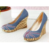 Wedge-Soled Slipsole Shoes