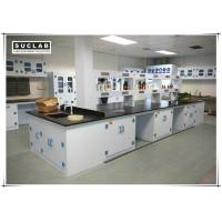 Waterproof PP Lab Bench With Reagent Shelves In Chemistry Laboratory