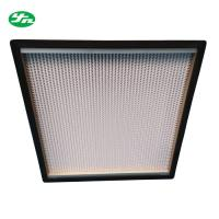 High Efficiency HEPA Media Filter / Glass Filter With Sandwich Wooden Board Frame