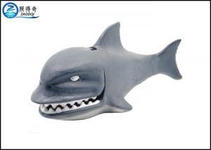 China Shark Air Operated Fish Tank Ornaments With Air Pipe Connection Hole In Mouth on sale