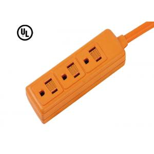 China Orange 3 Vertical Outlets Electrical Power Strip / Electronic Power Bar AC 15A 125V 60HZ on sale