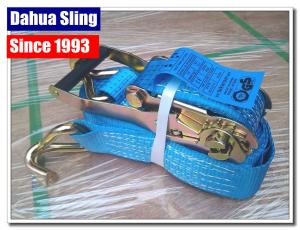 Quality 5000kg Working Load Cargo Tie Down Straps , Commercial E Track Ratchet Straps for sale