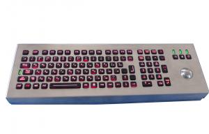 China Desktop Backlit Explosion Proof Keyboard With Trackball , Scrachproof on sale