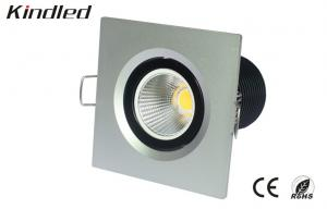 China COB High Brightness Square Recessed Ceiling Led Downlight 6 W 3000K 40 Degree on sale