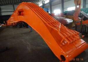 China Orange Long Reach Excavator Booms Heavy Duty Larger Work Range With Lamp Bracket on sale