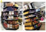 Gray Supermarket Corner Shelves Plain Buckle Back Panel 2.2M High Columns Around