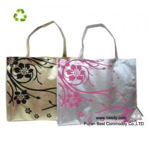 China Promotional shiny metallic non woven bag on sale