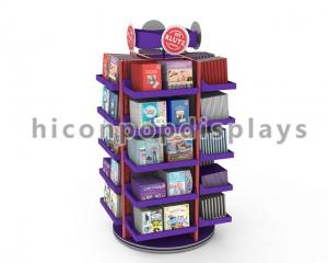 China Counter Top Magazine Spinner Rack / Greeting Card Spinner Displays Wood on sale