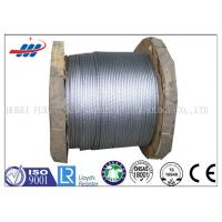China Hot Dipped Galvanized Steel Strand For Guy / Ground Wires , Stranded Steel Cable on sale